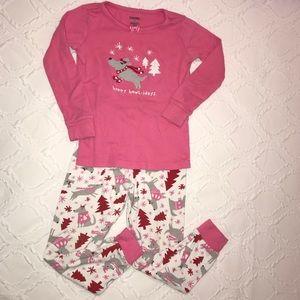 Girl's Gymboree Long Sleeve Holiday Pajama Set  5T